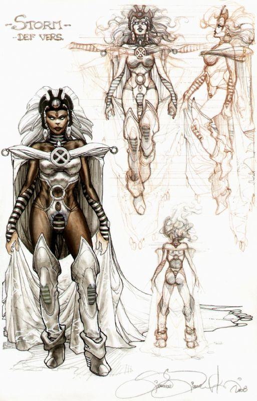 Storm costume design Comic Art