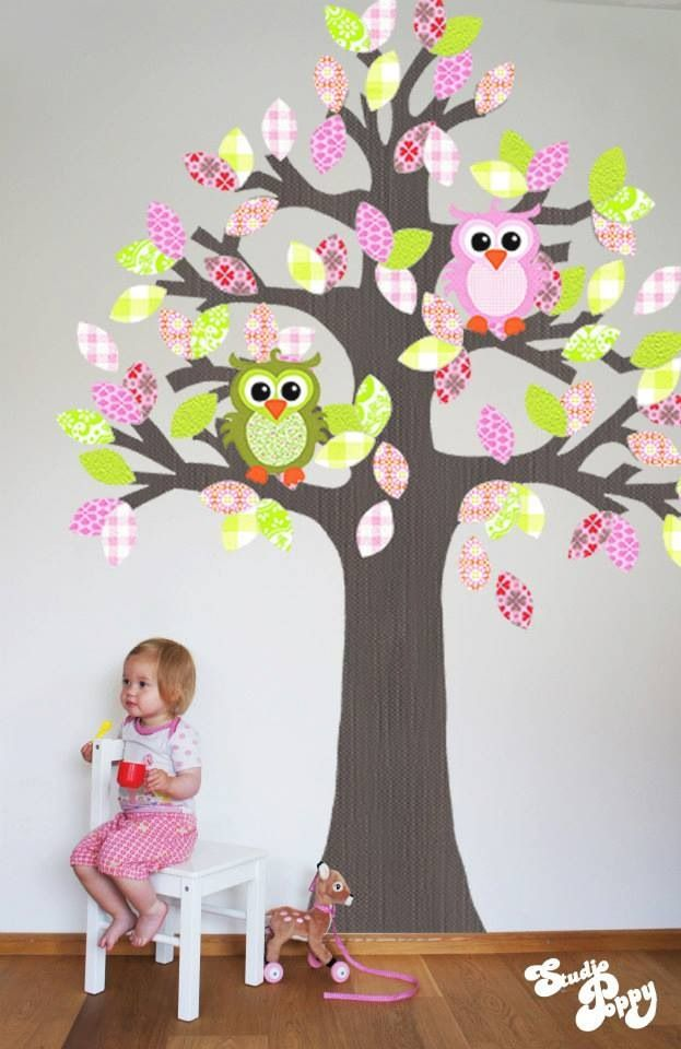 #tree #wallpaper #kidsroom #nursery