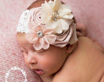 Baby hoofdband Baby meisje hoofdband, pasgeboren hoofdband, zuigeling hoofdband, Baby hoofdbanden, Baby haren bogen, bloem hoofdband, meisjes lace hoofdband.