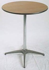 36 inch cocktail table...seats 3 to 4 people...$12 per table...abc party rental