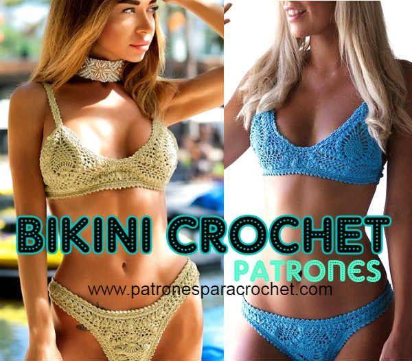 Cómo tejer bikini crochet con punto piña