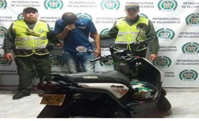 capturado hombre que tenia en su poder una motocicleta hurtada