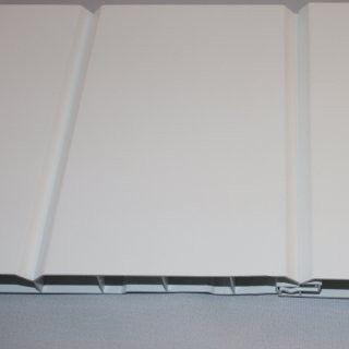 Verkleidungsprofil von dekodeck mit Fuge in weiß.  Erhältlich auf  www.Bauzuschnitt.de schau vorbei.