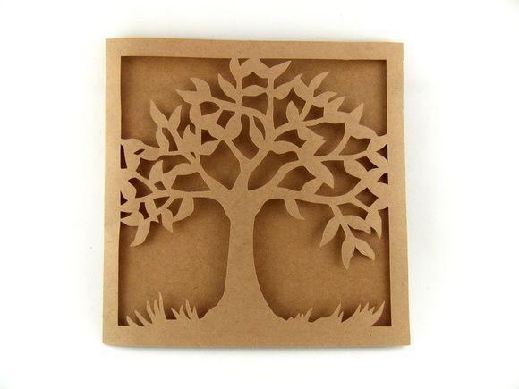 Envelope Árvore Kraft Rústico 14x14cm