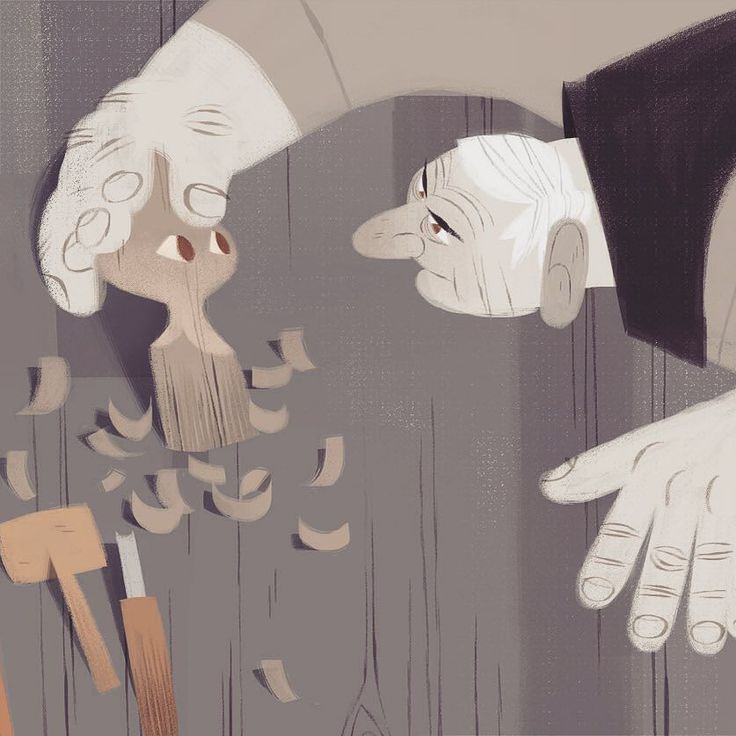 detail of the pinocchio illustration by williereal
