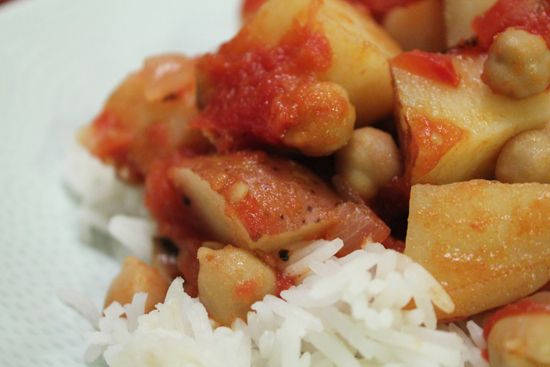 chickpea potato curry | Plant-Strong | Pinterest