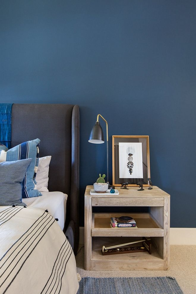 The Accent Wall Is Farrow And Ball Hague Blue