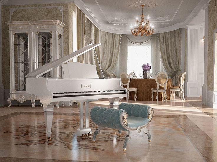 white grand piano - Szukaj w Google                                                                                                                                                                                 Más