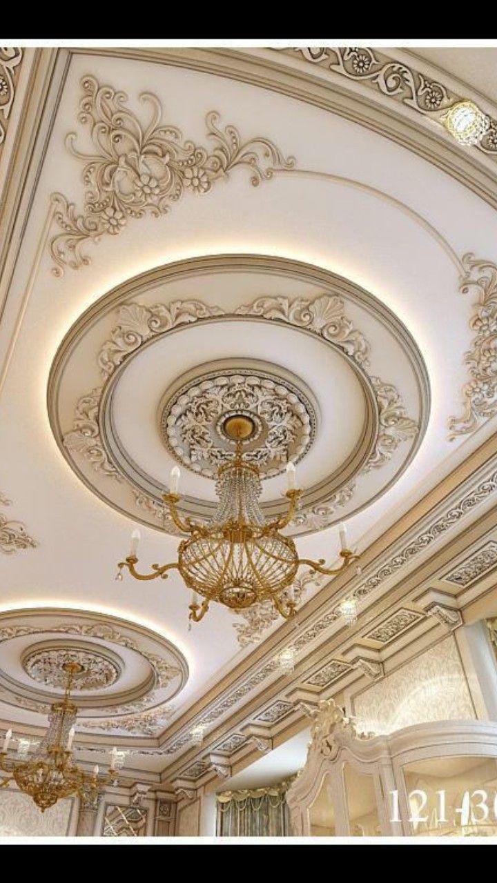 Pin By منى On Ideya Ceiling Design Modern Plaster Ceiling Design Ceiling Design