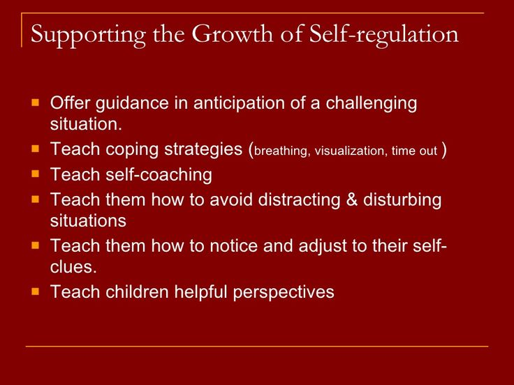 childrens development of emotional self regulation essay Regarding the development of emotion dysregulation in children which is why it is recommended to foster emotional self-regulation in children as early as.