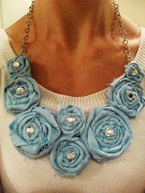 Brittney's Budget Crafts: Rosette Necklace TUTORIAL