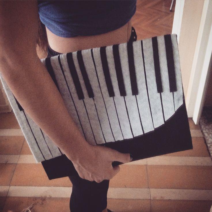 Piyano keçe çanta