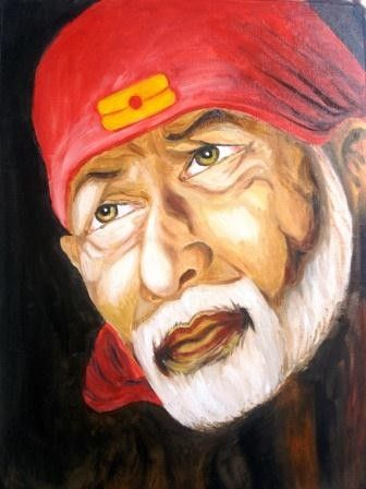 Shri Sai Baba's eyes expresses thousand words in this paintings, they reveal the feeling of care, love, sympathy, affection etc. towards the devotees and this piece of art brings positive energy to the ambience.