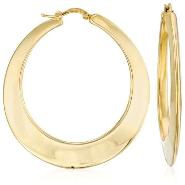 Ross Simons Italian 14kt Yellow Gold Hoop Earrings 1 3 4 395 Liked On Polyvore Featuring Jewelry R