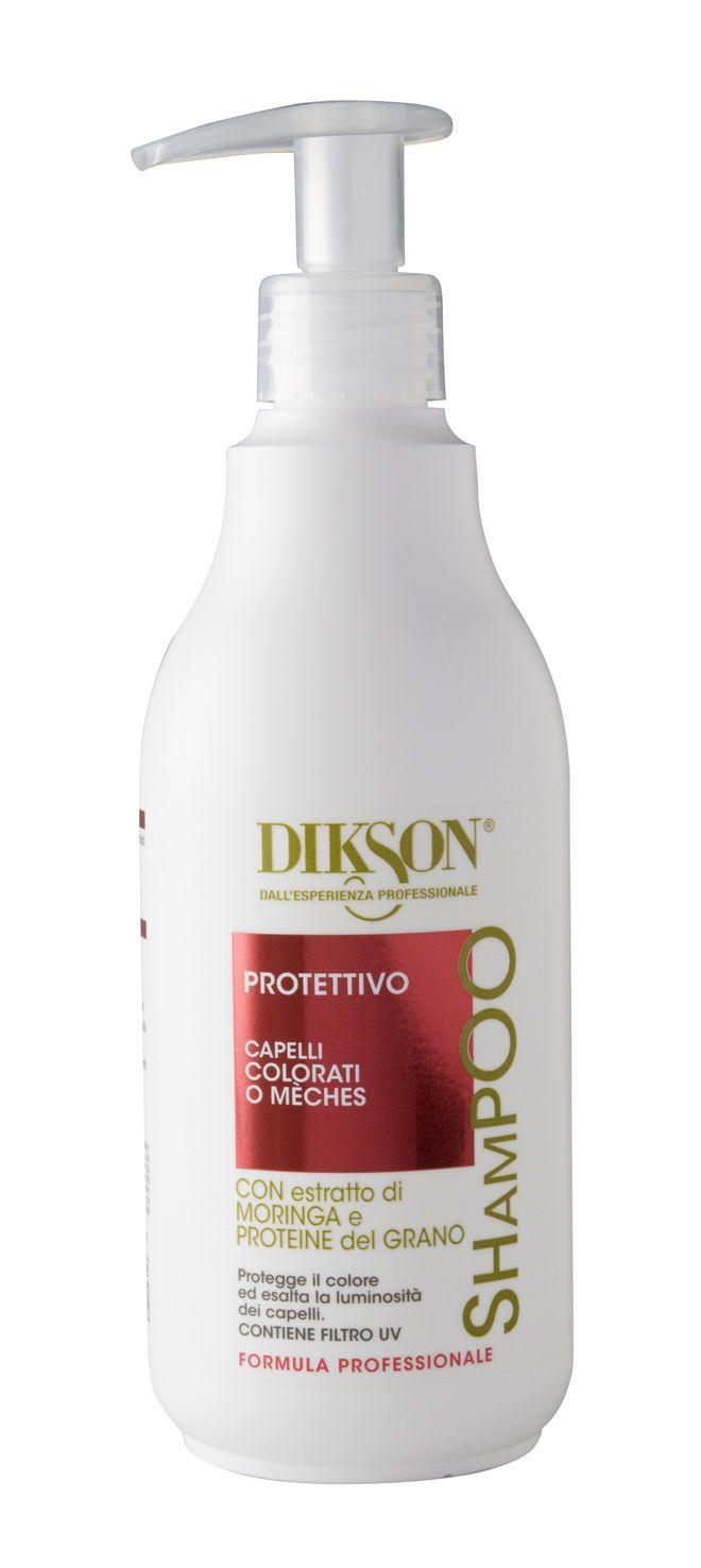 Shampoo Protettivo per capelli colorati e con mèches con Estratto di Moringa e Proteine del Grano.