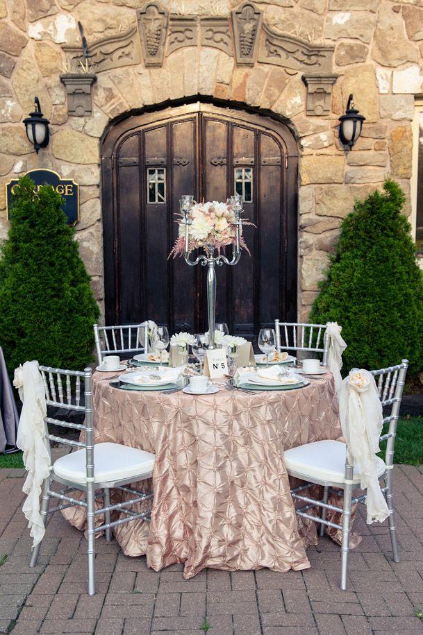 15-champagne blush linens silver chairsWedding Inspiration, Silver And Blushes Wedding, Blushes Wedding Tables Linens, Blushes Linens, Blushes E.L.F., Blushes And Silver Wedding, Blushes Tablecloth, Blushes Wedding Linens, Inspiration Blog
