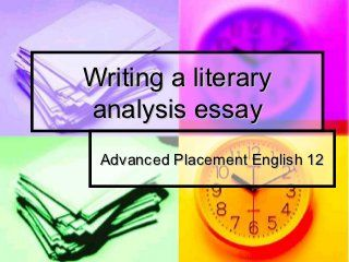 how to write a good literary analysis essay