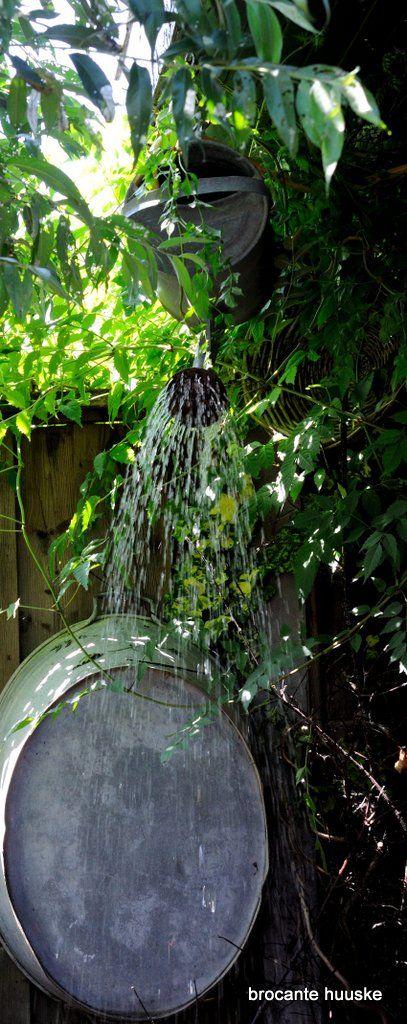 garden shower  Tuindouche en Vlinderparadijs