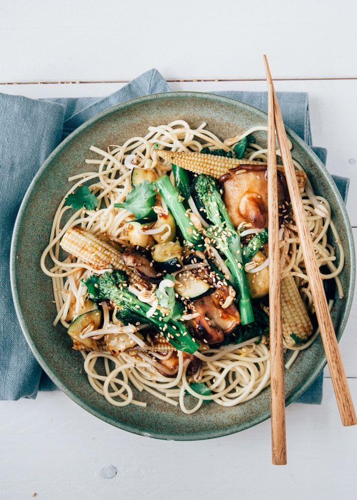 Fresh & Easy: Snelle Aziatische noedels met groenten