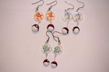 Polymer Pokemon Starters earrings