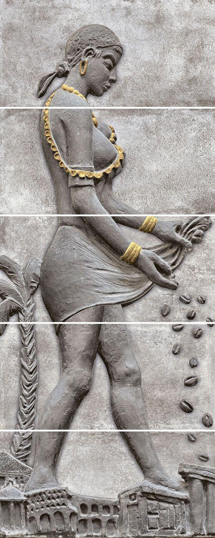 . Valentina Lady 300x600mm Decorative Rectified Matt Ceramic Wall Tile