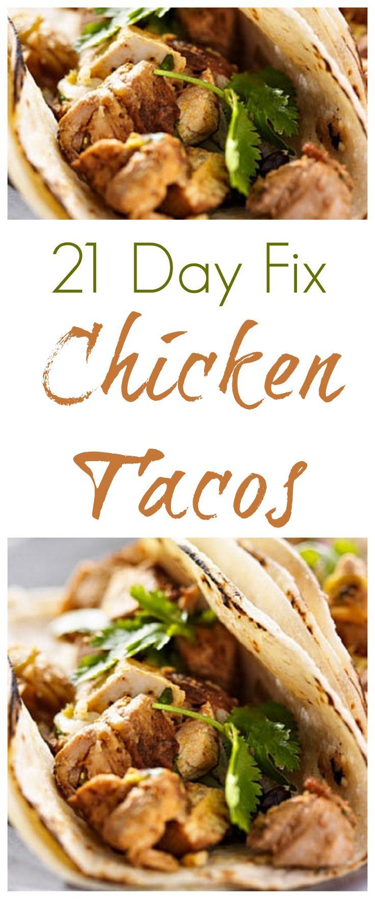 21 Day Fix Chicken Tacos #21dayfix #21dayfixchickentacos #21dayfixtacos…
