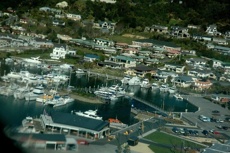 aerial shot of Picton marina