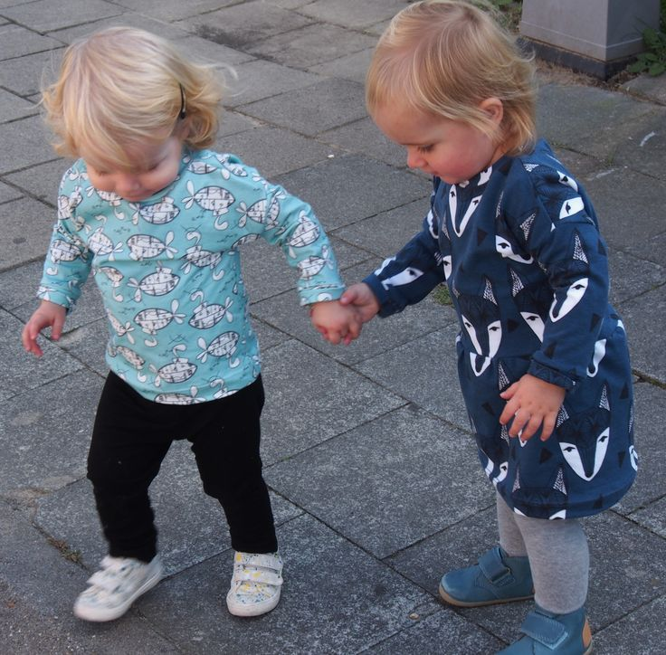 Free sewing pattern. Shirt, dress. Fons & Sien. Baby, toddler. Gratis naaipatroon. Trui, t-shirt, jurkje.