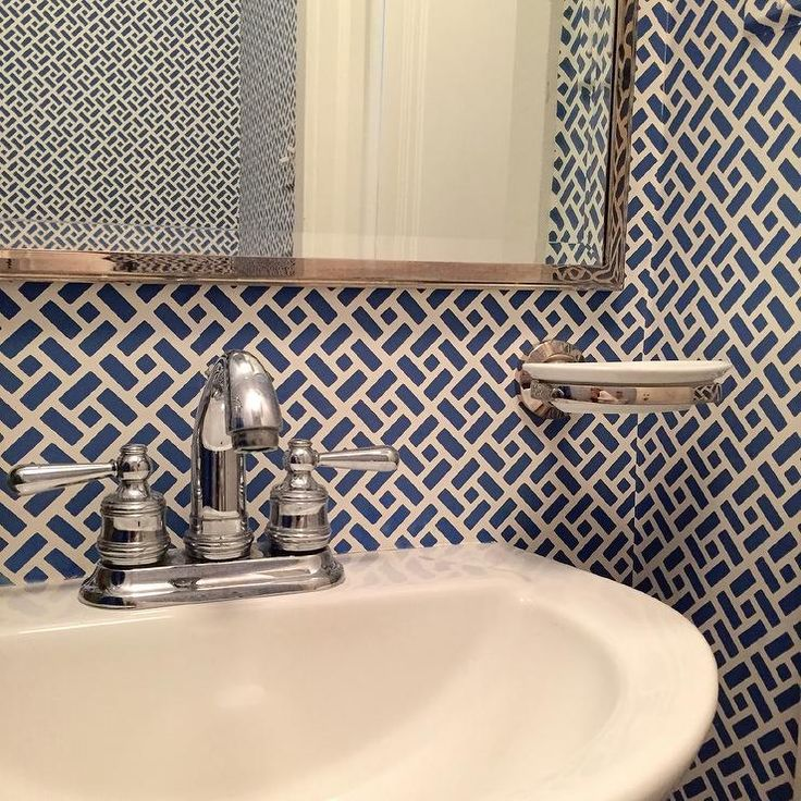 Amazing Gallery Of Interior Design And Decorating Ideas Of Quadrille  Wallpaper In Bathrooms By Elite Interior Designers.