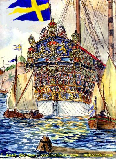 La fatídica tarde del día 1 de junio de 1676, durante una batalla de la armada sueca contra la danesa y la holandesa, el buque de guerra «Kronan» zozobró