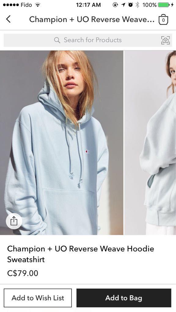 Champion hoodie light blue  af20d1a0c5