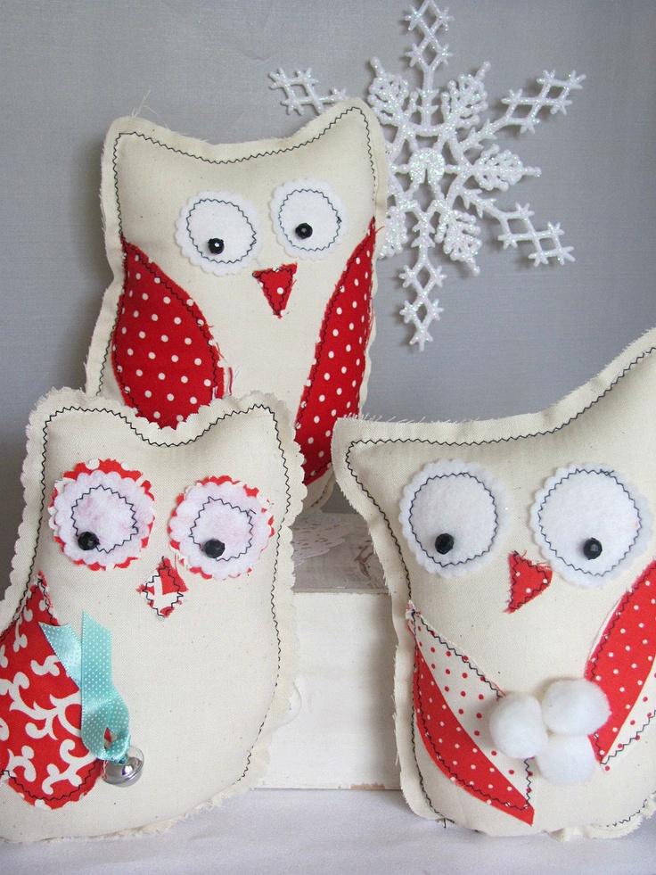 Easy Diy Folk Art Winter Owl Christmas Gifts Sewing