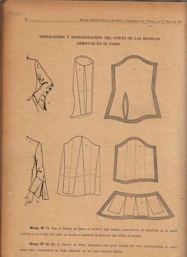 Vintage 1940s Sleeve Pattern Draft