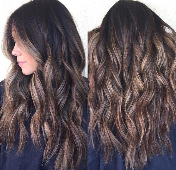 Balyage for darker hair