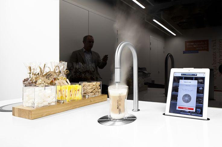 The CBI Members Lounge coffee machine controlled by iPhone or iPad #TopBrewer