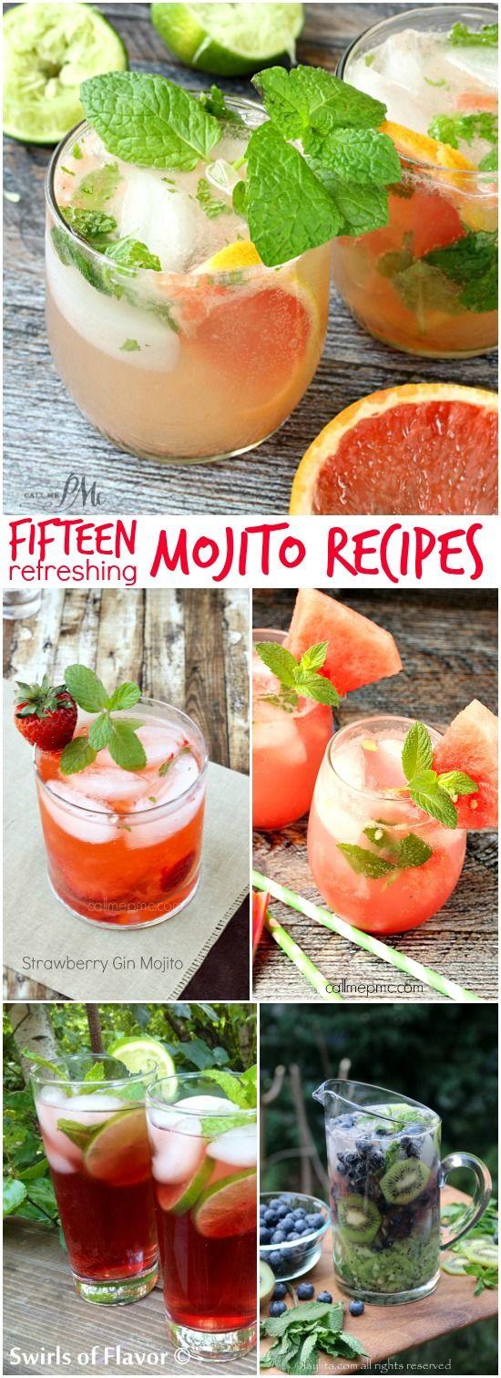 15 Refreshing Mojito Recipes - minty fresh and slightly sweet, get 15 tasty mojito recipes!