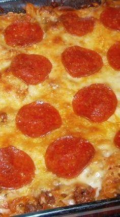 Weight Watcher Pizza Pasta Casserole ~ 6 Points+