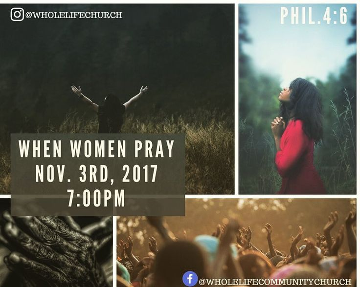 """Ladies it's that time again!  WHEN WOMEN PRAY:""""leaving our fears at the feet of Jesus. This Friday 11/3/2017 at 7:00pm. 105 Church Street Paterson NJ 07509.  The Word of God tells us to not be anxious about anything but in every situation by prayer and petition with thanksgiving present your requests to God.-PHIL.4:6  Come with great expectation.  See you there!  Lady O"""