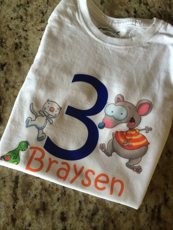 Toopy and Binoo Custom Birthday Shirt (Esty link.) I'm saving for placement ideas for our annual birthday shirt.