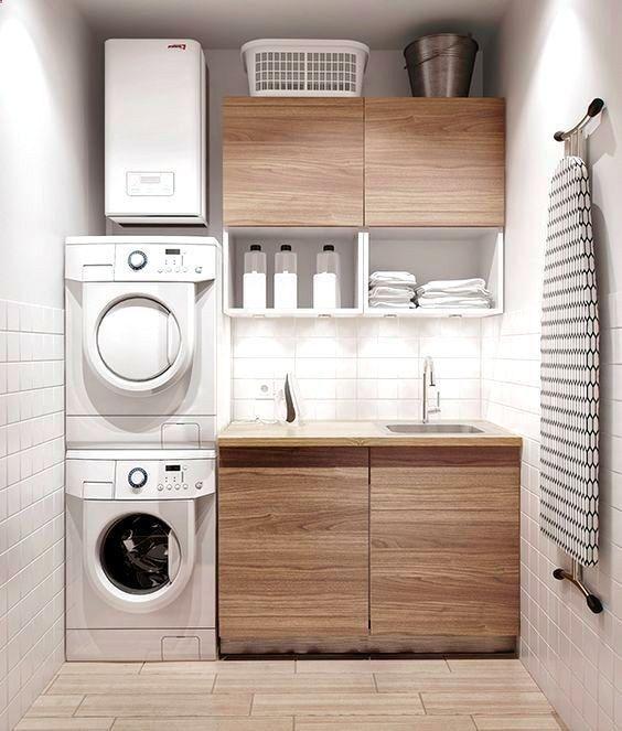 Modern and compact laundry room. #laundryroom homechanneltv.com