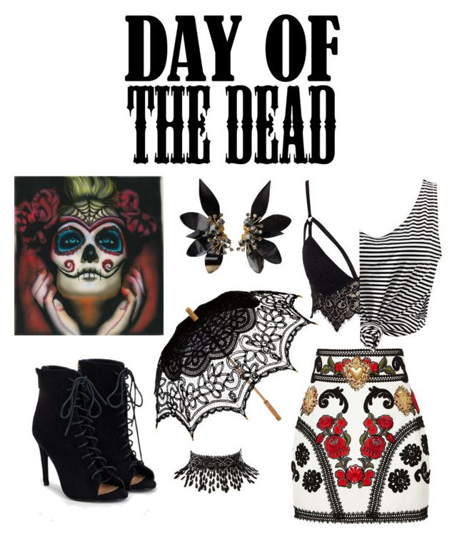 """Untitled #16"" by nastja-pessi on Polyvore featuring art and Dayofthedead"