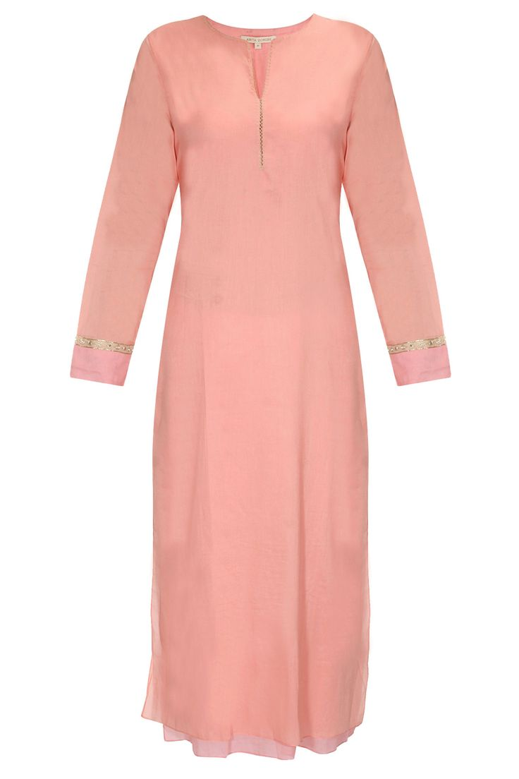 Peach tunic with gota patti pattern available only at Pernia's Pop Up Shop#perniaspopupshop #newcollection #festive #designer #clothing #anitadongre