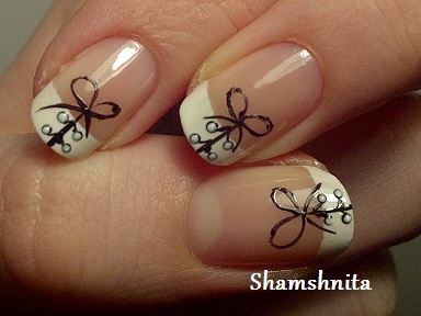 cute corset nails with bows
