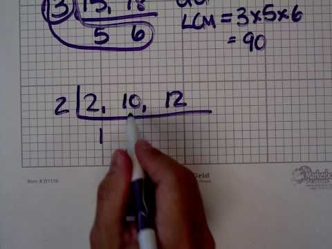 """Here's a video on finding the least (lowest) common multiple (LCM) using the """"upside down birthday cake"""" method."""