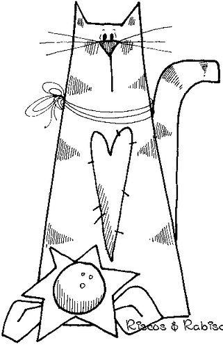Cat for quilt applique
