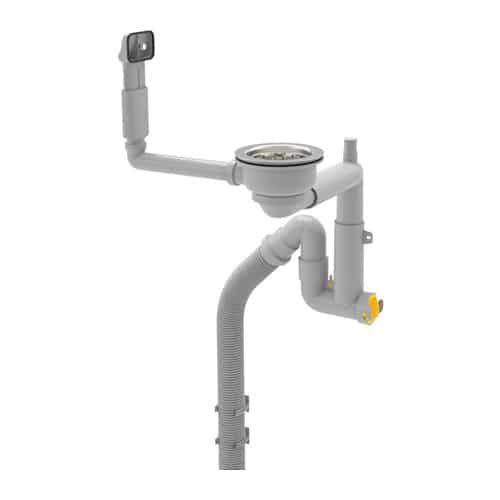 Сифон «ЛИЛЛЬВИКЕН»  Такой сифон является спасением для маленьких ванных комнат, поскольку он позволяет очень удачно использовать место под раковиной. Мы рекомендуем занять освободившееся пространство стиральной машинкой или сделать там полки для хранения бытовой химии. И не забывайте, что стиральные машины бывают разных размеров: например, есть узкие модели, глубина которых не превышает 42 см, а высота — 65—70 см, при этом объём барабана позволяет загружать 5—6 кг белья.