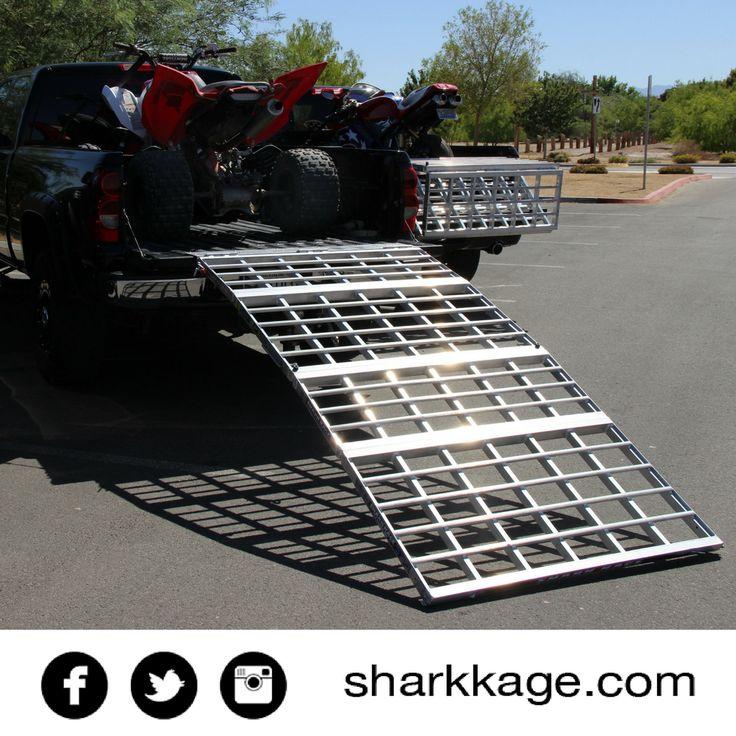 Atv Truck Ramps >> loading ramp motorcycle ramp bed extender atv shark kage ...