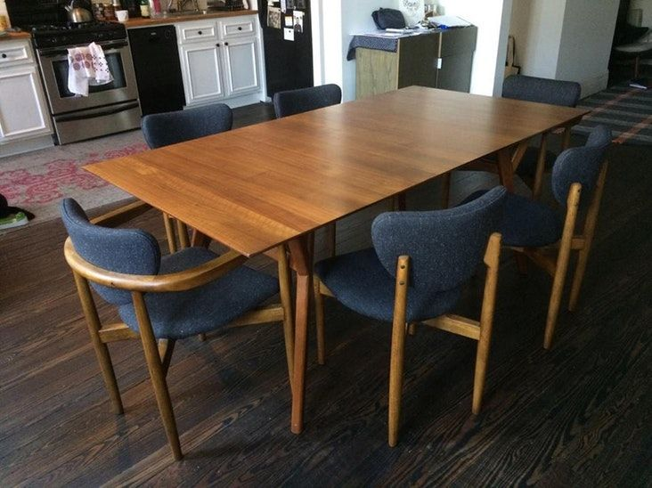 Furniture Mid Century Expandable Dining Table Room Acorn With 26