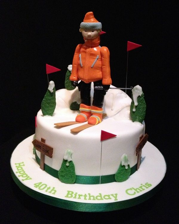 59 Best Images About Cakes Skiing On Pinterest