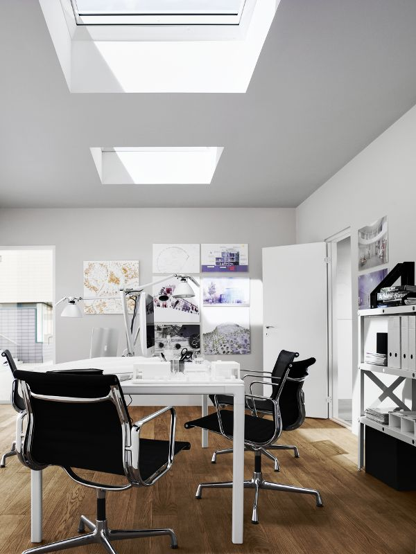 Did you know...more natural light will make office workers feel more energised, comfortable and healthy? So why not make your company brighter with the help of VELUX CFP flat roof skylights?